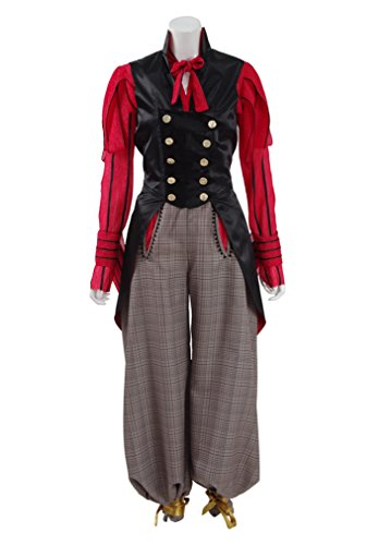 Xiao Maomi Womens Halloween Red Shirt Party Suit Cosplay Costume (Woman-XL, Red) by Xiao Maomi