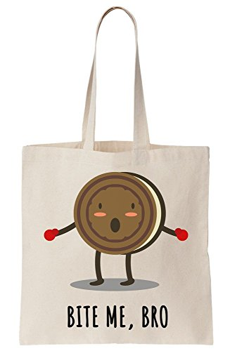 Brave Bro Little Me Canvas Tote Bite Bag Biscuit UHgfqwwx