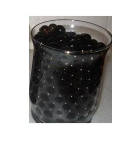 Water Beads for Wedding, Holiday, & All Occasion Home Decor - 10 Gram Pack - Makes 1 Quart (4-5 Cups) (Black)