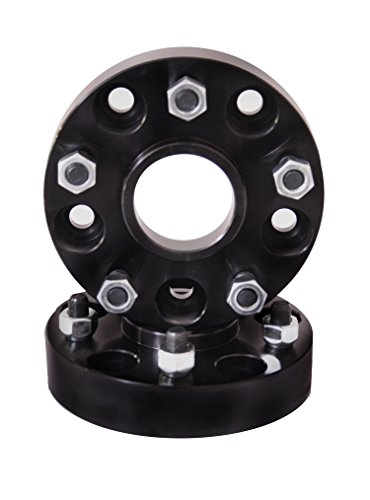 (Rugged Ridge 15201.05 Black Anodized Wheel Spacer Pair (1.5