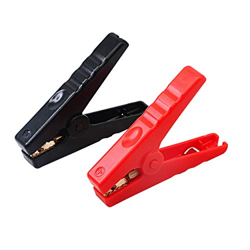 2Pcs Copper Plated Alligator Battery Charger Clips Test Clamps For Jump Starter