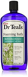 Dr Teal\'s Foaming Bath with Rosemary & Mint, Refresh & Renew, 34 Fl Oz