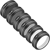 Neewer 6 Pieces Filter Kit for DJI Phantom 4 Pro Quadcopter - UV, CPL, ND4, ND8, ND16 and ND32 Filter, Made of Optical Glass and Aluminum Alloy Frame and Waterproof MRC 16-Layer Coating (Black)