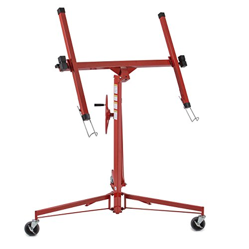Drywall-Lift-11-15-Lift-Panel-Hoist-Dry-Wall-Jack-Lifter-Construction-Tool-Red