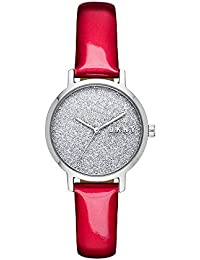 Women The Modernist Quartz Leather Red with Silver Dial Watch NY2776 · DKNY