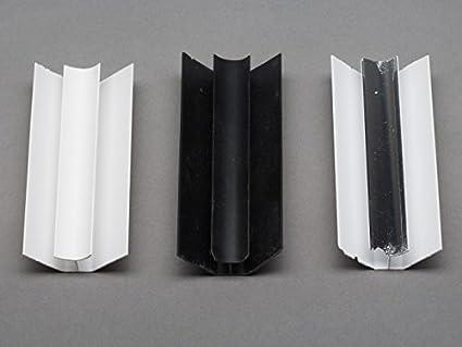 4 x Black Internal Corner Finishing Trims for 8mm PVC Shower Wall Panels