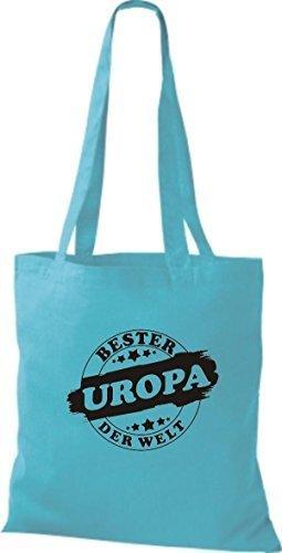 ShirtInStyle Bolso de tela Bolsa de algodón Bester UROPA der Welt sky
