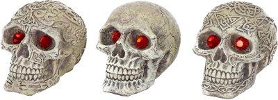 Penn-Plax Deco-Replica Aquarium Decorative Resin Ornament Skull Gazors Assorted Styles 2.75