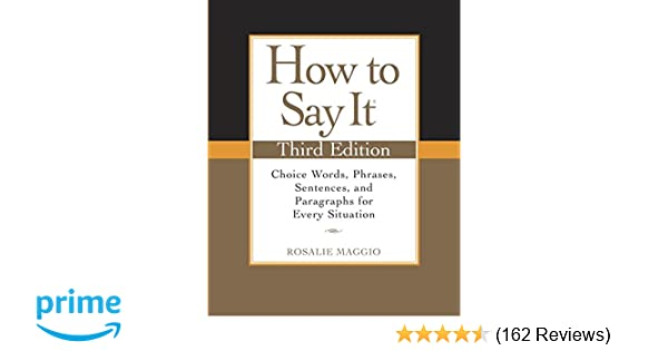 Amazon How To Say It Third Edition Choice Words Phrases