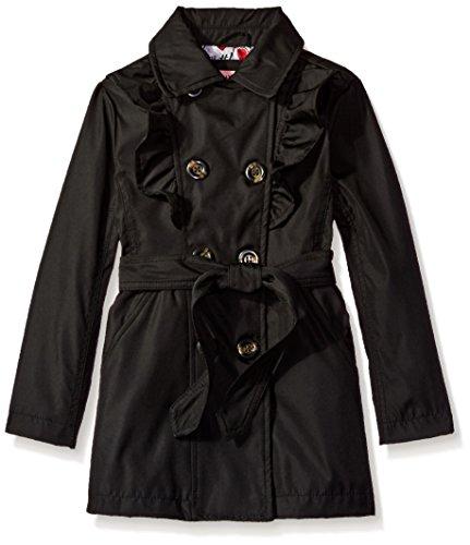 Urban Republic Little Girls' My Fave Trench Coat 1, Black, 6X