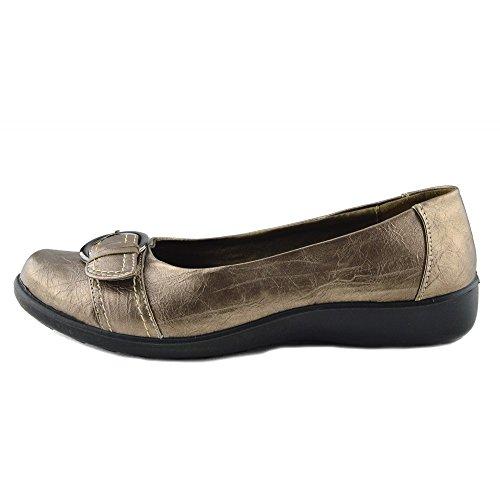 Ufficio 2 Footwear Womens Piedi Bronzo Nero Casual Comfort A Kick Scarpe Flat Donna Bronzo naBOIqZ