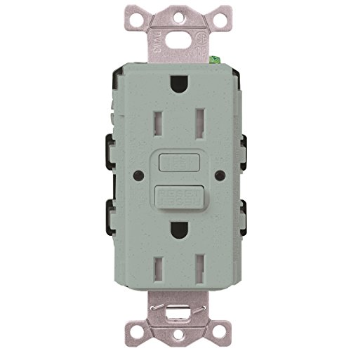 Lutron  SCR-20-GFST-BG  20-Amp  Tamper Resistant Self-Testing Receptacle, Bluestone -  Lutron Electronics Company, Inc.