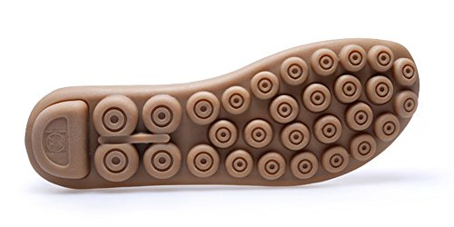 Tan De Loisir Femme Cuir Plates Ville Loafers Chaussures Casual Conduite Flats Mocassins Bateau Penny qOUfAzww
