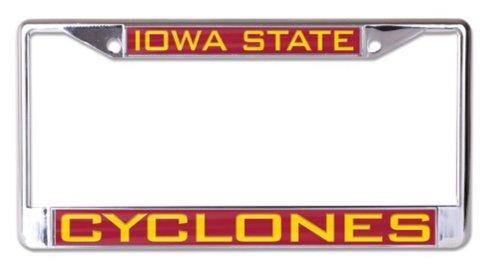 WinCraft NCAA Iowa State University Cyclones 6 x 12 Inlaid Acrylic/Metal License Plate Frame