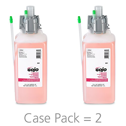 GOJO Luxury Foam Hand Wash, Cranberry Fragrance, 1500 mL Hand Wash Refill for CX, CXI, CXac & CXT Counter Mount Dispensers (Pack of 2) - 8561-02