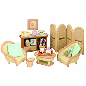 sylvanian families living room sylvanian families conservatory living room set co 17108