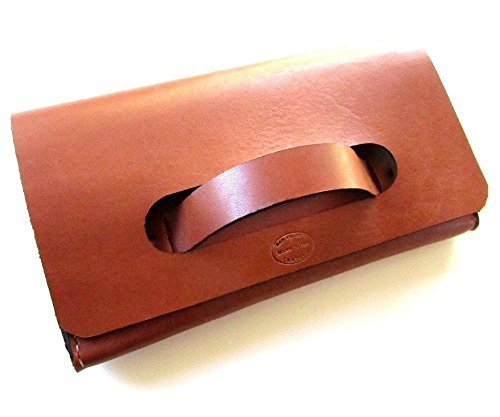 Women's Leather Clutch with Handle by San Filippo Leather