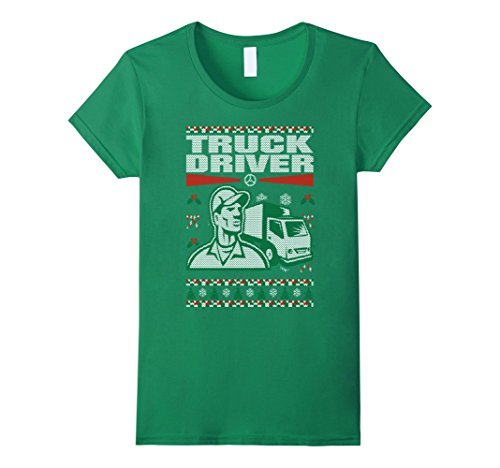 Truck Driver Christmas Ugly Sweater Tee
