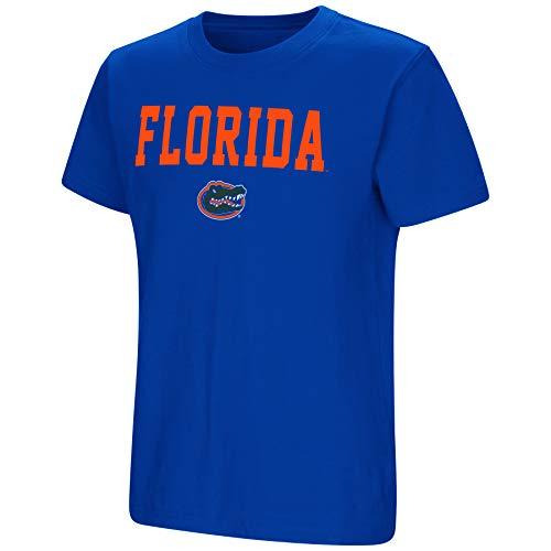 Colosseum NCAA Youth Boys-Talk The Talk-Cotton T-Shirt-Florida Gators-Blue-Youth Large (Boys Shirt Gator)