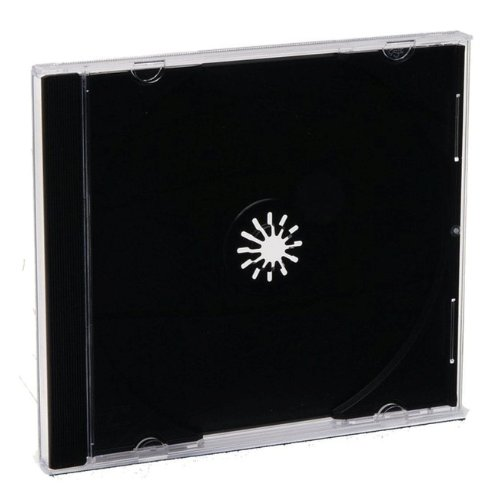 Verbatim CD/DVD Jewel Cases (0.41 inches) - Black- 200 pack (Bulk)