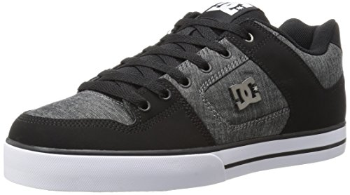 DC Men's Pure Tx Se Skateboarding Shoe, Black, 7 M US