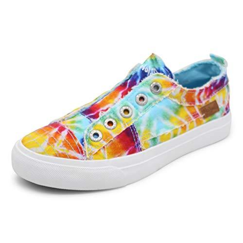 Blowfish Malibu womens Play Sneaker, Rainbow Tie Dye, 9 US