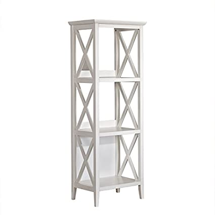 Mixcept 59 Solid Pine Wood Bookshelf 3 Tier Bookcases Storage Rack Shelving Unit Collection