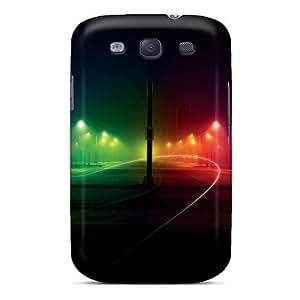 New Tpu Hard Case Premium Galaxy S3 Skin Case Cover(streen Of Colors)