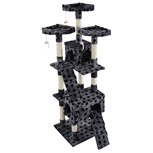 eight24hours-new-66-cat-tree-tower-condo-furniture-scratching-post-pet-kitty-play-house-grey-with-pa