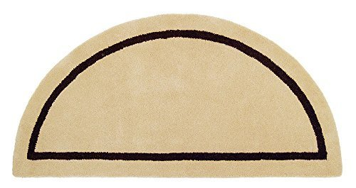 Minuteman International Mesa Tan Contemporary Wool Hearth Rug (Half Round) by Minuteman (Minuteman Contemporary Hearth Rug)