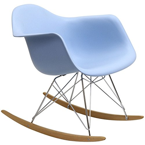 Plastic Molded Rocking Chair in Blue