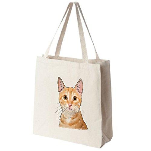 Orange Tabby Portrait - Tote Tails Orange Tabby Cat Color Portrait