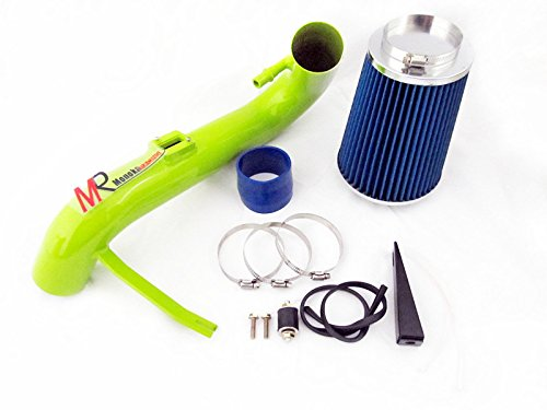 05 06 07 08 09 Ford Mustang 4.0L V6 Green Piping Cold Air Intake System Kit with Blue Filter