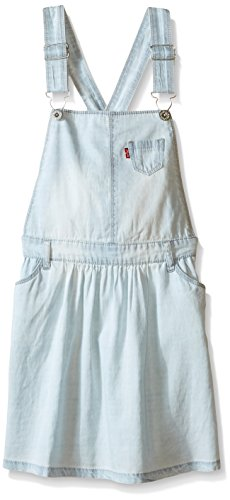 Levi's Girls' Lightweight Denim Jumper,Ultra Light, (Girls Chambray Jumper)