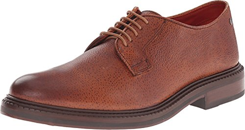 Base London Oxford Derby Brogue Range of Mens Formal and Informal Leather Lace-UPS Black and Brown Scotch Grain Tan-Derby
