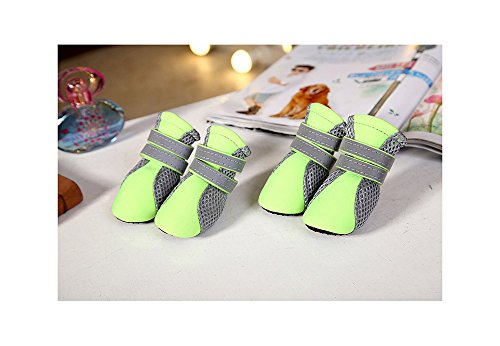 Nylon Dog Booties - Dog Boots, Breathable Mesh Pet Shoes Soft Non-slip Paw Protector By PetsMostHome