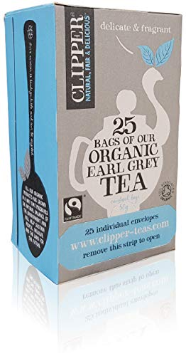 Clipper Fairtrade Organic Earl Grey - Juego de 25 bolsitas de te de una taza, color