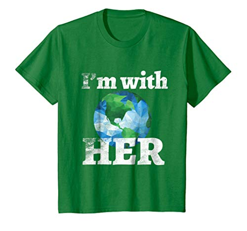 Kids I'm With Her March For Science Tshirt Tee Earth Day April 22 10 Kelly Green
