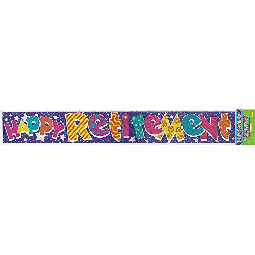 12ft Foil Happy Retirement Banner