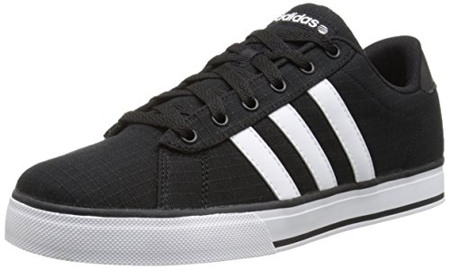 adidas NEO Men's SE Daily Vulc Lifestyle Skateboarding Shoe,Black/White/Black,9 M US