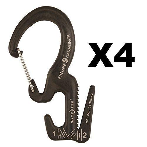 - Nite Ize Figure 9 Carabiner Small Rope Tightener Aluminum Tie Down Tool (4-Pack)