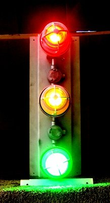 Explosion Proof Traffic Light - Class 1 & Class 2 Signal Stack Light - Red, Yellow, Green - 1.5'' GRC by Larson Electronics (Image #1)