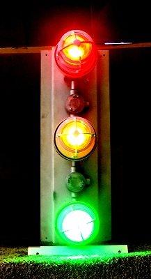 Explosion Proof Traffic Light - Class 1 & Class 2 Signal Stack Light - Red, Yellow, Green - 1.5'' GRC