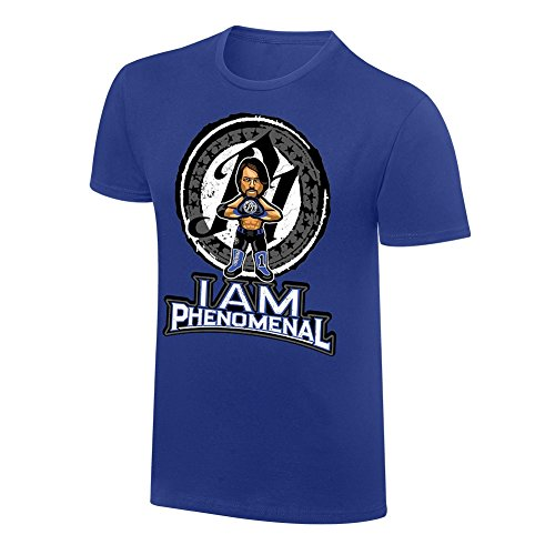 AJ Styles Phenomenal Cartoon x Nerds WWE Authentic MensT-shirt-XXL by Official WWE Authentic
