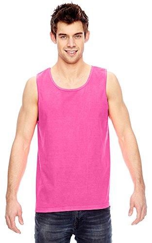 Comfort Colors Ringspun Garment-Dyed Tank, Large, NEON PINK