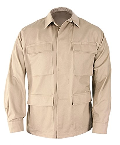 Propper Uniform BDU Coat Regular Length 60/40 Cotton/Polyester Ripstop Khaki MR (Khaki Bdu Jacket)