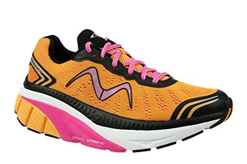 MBT Women's Zee 17 W Sneaker, Orange/Pink/Black/White, 9.5 Medium US