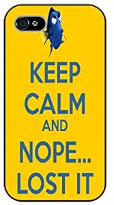 iPhone 5 / 5s Keep calm and nope... Lost it - black plastic case / Keep calm, funny, quotes, nemo, finding