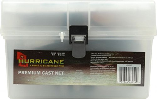 Hurricane Hurricane 1/2-Inch 5-Feet Cast Net Hurricane Sports Net