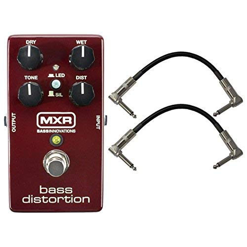 (Dunlop MXR M85 BASS DISTORTION w/ 2 Patch Cables)